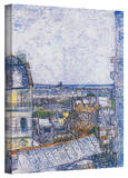 Vincent van Gogh 'Wall Paris from Vincent's Room' Wrapped Canvas Art Stretched Canvas Print by Vincent van Gogh