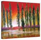 Susi Franco 'Tuscan Cypress Sunset' Gallery-Wrapped Canvas Gallery Wrapped Canvas by Susi Franco