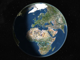 Satellite Image of Europe and Africa Fotodruck