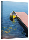 Ken Kirsch 'Yellow Canoe' Wrapped Canvas Gallery Wrapped Canvas by Ken Kirsch