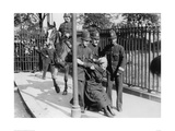 Police and a Suffragette 1913 Giclee Print