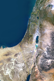 Satellite Image of Israel Photographic Print
