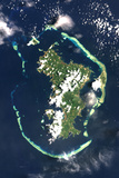 Satellite Image of Mayotte, Africa Photographic Print