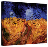 Vincent van Gogh 'Wheatfield with Crows' Wrapped Canvas Art Stretched Canvas Print by Vincent van Gogh