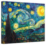 Vincent van Gogh 'Starry Night' Wrapped Canvas Stretched Canvas Print by Vincent van Gogh