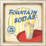 Fountain Sodas Wall Art by Lisa Alderson