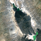 Satellite Image of Erta Ale Volcano, Ethiopia Photographic Print