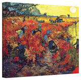 Vincent van Gogh 'Red Vineyard at Arles' Wrapped Canvas Stretched Canvas Print by Vincent van Gogh