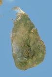 Sri Lanka, Satellite Image with Bump Effect Photographic Print