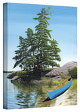 Ken Kirsch 'Canoe on Georgian Bay' Wrapped Canvas Gallery Wrapped Canvas by Ken Kirsch