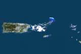Satellite Image of Puerto Rico Photographic Print