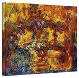Claude Monet 'Japanese Footbridge' Gallery Wrapped Canvas Stretched Canvas Print by Claude Monet