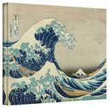 Katsushika Hokusai 'The Great Wave of Kanagawa' Gallery Wrapped Canvas Stretched Canvas Print by Katsushika Hokusai