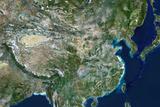 Satellite Image of China Photographic Print