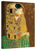 Gustav Klimt 'The Kiss' Gallery Wrapped Canvas Stretched Canvas Print by Gustav Klimt
