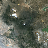 Satellite Image of El Misti Volcano , Peru Photographic Print