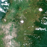 Satellite Image of Cotopaxi Volcano, Ecuador Photographic Print
