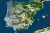 Satellite Image of Spain and Portugal Photographic Print