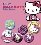 Hello Kitty - Nu Rave Badge Pack Badge