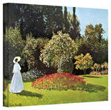 Claude Monet 'Woman in Park with Poppies' Gallery Wrapped Canvas Stretched Canvas Print by Claude Monet