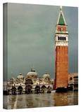 George Zucconi 'Venice Piazza' Wrapped Canvas Stretched Canvas Print by George Zucconi