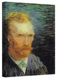 Vincent van Gogh 'Self Portrait' Wrapped Canvas Art Stretched Canvas Print by Vincent van Gogh
