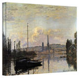 Claude Monet 'Dock' Wrapped Canvas Art Stretched Canvas Print by Claude Monet