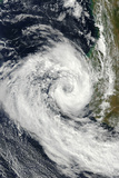Satellite Image of Cyclone Izilda, Madagascar, Africa, in 2009 Photographic Print