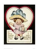 Suffragette Cartoon Digitálně vytištěná reprodukce