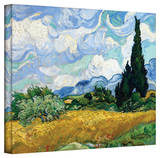 Vincent van Gogh 'Wheatfield with Cypresses' Wrapped Canvas Gallery Wrapped Canvas by Vincent van Gogh
