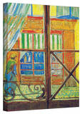 Vincent van Gogh 'Pork-Butchers Shop Through The Window' Wrapped Canvas Art Stretched Canvas Print by Vincent van Gogh