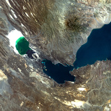 Satellite Image of Ardoukoba Volcano, Djibouti Photographic Print
