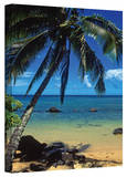 Kathy Yates 'Beautiful Anini Beach' Canvas Art Stretched Canvas Print by Kathy Yates