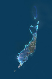 Satellite Image of Palau, Micronesia, Oceania Photographic Print