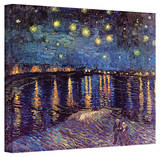 Vincent van Gogh 'Starry Night Over the Rhone' Canvas Stretched Canvas Print by Vincent van Gogh