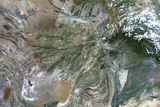 Satellite Image of Afghanistan Photographic Print