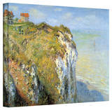 Claude Monet 'Cliffs' Gallery Wrapped Canvas Stretched Canvas Print by Claude Monet