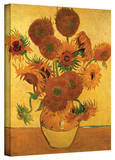 Vincent van Gogh 'Vase with Fifteen Sunflowers' Wrapped Canvas Art Gallery Wrapped Canvas by Vincent van Gogh