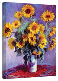 Claude Monet 'Sunflowers' Wrapped Canvas Stretched Canvas Print by Claude Monet