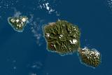 Satellite Image of Tahiti Photographic Print
