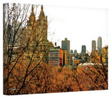 Linda Parker 'Urban Autumn, NYC' Gallery-Wrapped Canvas Stretched Canvas Print by Linda Parker