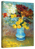Vincent van Gogh 'Flowers in Blue Vase' Wrapped Canvas Art Stretched Canvas Print by Vincent van Gogh