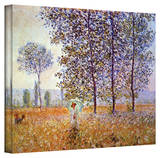 Claude Monet 'Poplars' Wrapped Canvas Art Stretched Canvas Print by Claude Monet