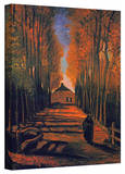 Vincent van Gogh 'Avenue of Poplars in Autumn' Wrapped Canvas Art Stretched Canvas Print by Vincent van Gogh