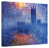 Claude Monet 'Houses of Parliament' Wrapped Canvas Stretched Canvas Print by Claude Monet