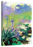 Claude Monet 'Agapanthus' Gallery Wrapped Canvas Stretched Canvas Print by Claude Monet