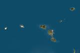 Satellite Image of Aeolian Islands, Italy Photographic Print