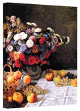 Claude Monet 'Flowers and Fruit' Wrapped Canvas Art Stretched Canvas Print by Claude Monet