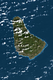 Satellite Image of Barbados Photographic Print