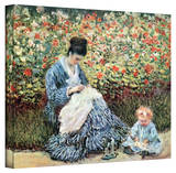 Claude Monet 'Mother and Child' Gallery Wrapped Canvas Stretched Canvas Print by Claude Monet